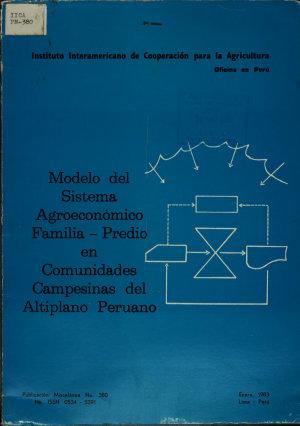 Modelo Del Sistema Agroeconomico Familia predio en Comunidades Campesionas Del Altiplano Peruano PDF
