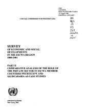 Survey of Economic and Social Developments in the ESCWA Region PDF