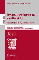 Design  User Experience  and Usability  Theory  Methodology  and Management PDF
