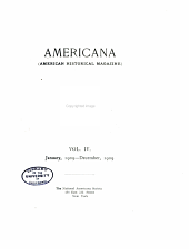 Americana, American historical magazine: Volume 4