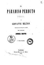 Il paradiso perduto poema di Giovanni Milton