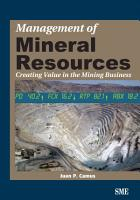 Management of Mineral Resources PDF