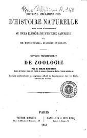 Notions prèliminaires de zoologie par m. Milne Edwards