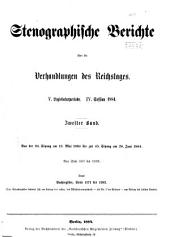 Verhandlungen: Stenographische Berichte, Band 2