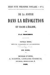 De la justice dans la révolution et dans l'église: ¬Les biens, Volume3