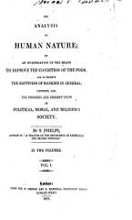 The Analysis of Human Nature PDF