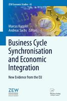 Business Cycle Synchronisation and Economic Integration PDF