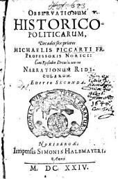 Observationes historico-politicae: Decades sex priores, Volume 1