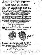 Historica narratio von dem Leben Augusti Herzogen zu Sachsen