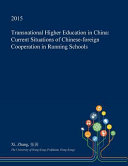 Transnational Higher Education in China
