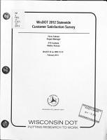 WisDOT 2012 Statewide Customer Satisfaction Survey PDF
