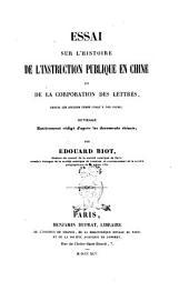 Essai sur l'histoire de l'instruction publique en Chine et de la corporation des lettrés depuis les anciens temps jusqu'à nos jours par Édouard Biot: Page1