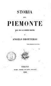 Storia del Piemonte dal 1814 ai giorni nostri di Angelo Brofferio: Regno di Vittorio Emanuele, Volume 1