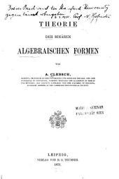 Théorie der binären algebraischen Formen