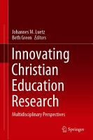 Innovating Christian Education Research PDF