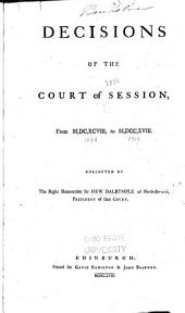 Decisions of the Court of Session: From 1698 to 1718