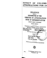 District of Columbia Appropriations for 1971 PDF