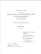 Molecular Ecology and Evolution of Intertidal Sculpins PDF