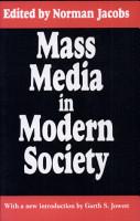 Mass Media in Modern Society PDF
