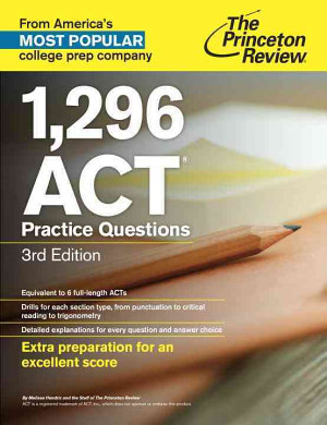 1 296 ACT Practice Questions  3rd Edition