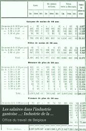 Les salaires dans l'industrie gantoise ...: Industrie de la filature du lin: Volume2