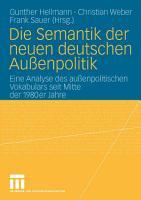 Die Semantik der neuen deutschen Au  enpolitik PDF