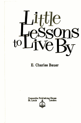 Little Lessons to Live by PDF