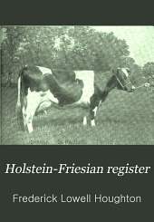 Holstein-Friesian Register: Volume 20
