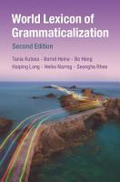World Lexicon of Grammaticalization PDF