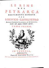 Le rime del Petrarca: Volume 1