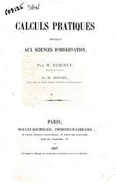 Calculs pratiques appliqués aux sciences d'observation par M. Babinet et M. Housel