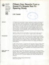 Fifteen-year results from a grand fir-shasta red fir spacing study
