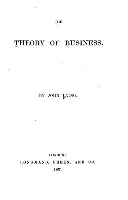 The Theory of Business PDF