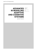 Advances in Modeling Adaptive and Cognitive Systems PDF