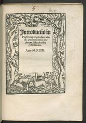 Introductio in Physicam paraphrasim: adiectis annotationibus explanata