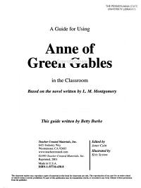 A Guide for Using Anne of Green Gables in the Classroom PDF