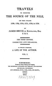 Travels to Discover the Source of the Nile, in the Years 1768, 1769, 1770, 1771, 1772, & 1773: Volume 1