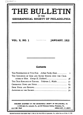 The Bulletin of the Geographical Society of Philadelphia: Volume 10