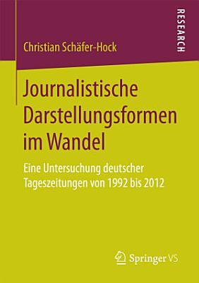Journalistische Darstellungsformen im Wandel PDF
