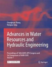 Advances in Water Resources & Hydraulic Engineering: Proceedings of 16th IAHR-APD Congress and 3rd Symposium of IAHR-ISHS