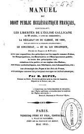 Manuel du droit public ecclésiastique français...