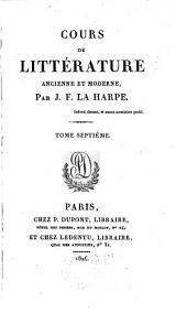 Cours de littérature ancienne et moderne: Siècle de Louis XIV: Poésie