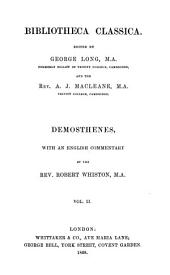Demosthenes: Volume 2