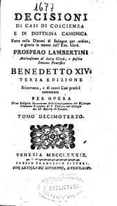Decisioni di casi di coscienza e di dottrina canonica: Volume 14