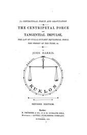 Centrifugal Force and Gravitation: A Lecture, Volume 1