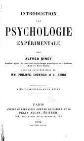 Introduction a la psychologie expérimentale