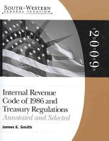 South Western Federal Taxation  Internal Revenue Code 1986   Treasury Regulations  Annotated and Selected 2009 PDF