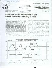 Estimates of the population of the United States to ...