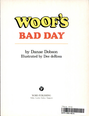 Woof s Bad Day PDF