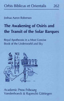 The Awakening of Osiris and the Transit of the Solar Barques PDF